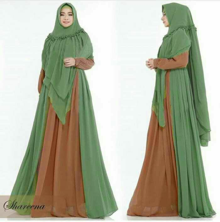 Humaira99 Baju Gamis Syari Muslim Dress Hijab Muslimah Atasan Muslimah LongDress Ceruty Shareena