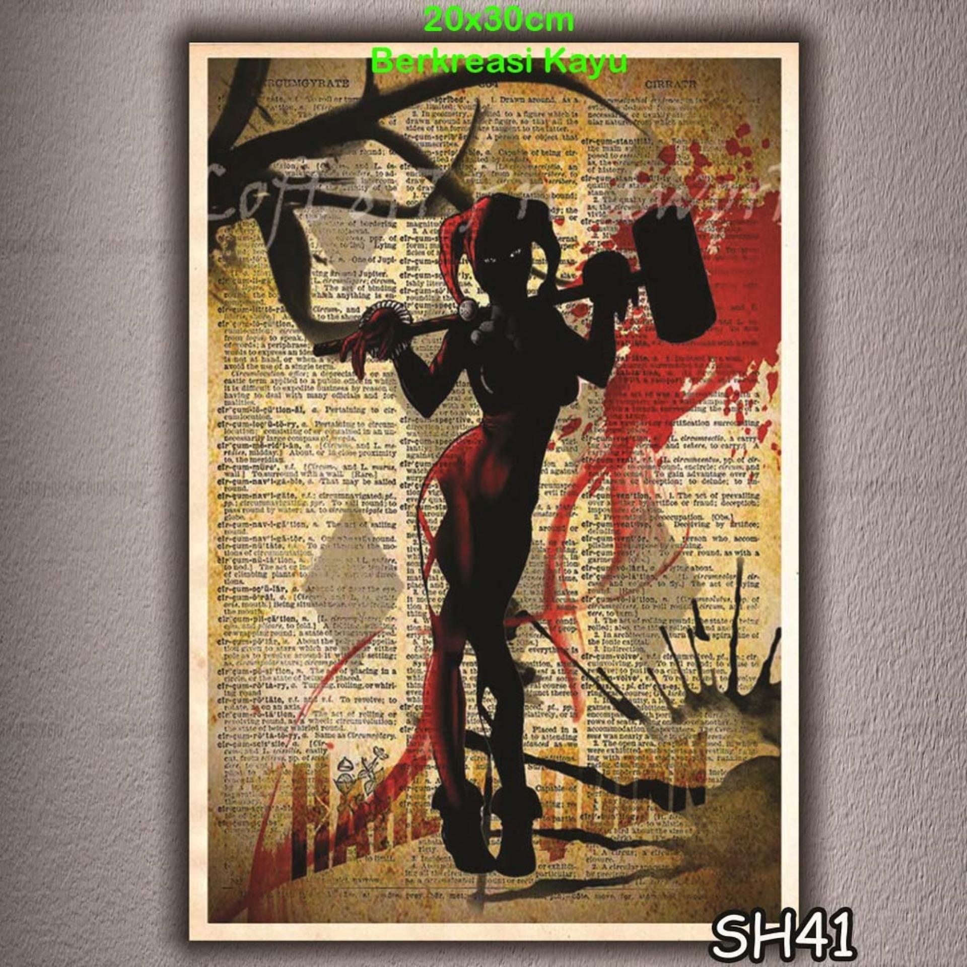 Vasty Hiasan Dinding Kayu Wall Decor Poster Super Hiro VSH-41
