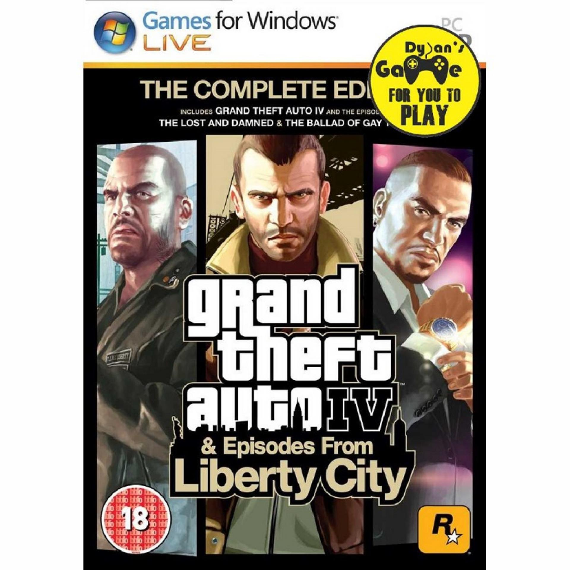 Grand Theft Auto 4 Complete Edition Pc - Full Game By Dylansgame.