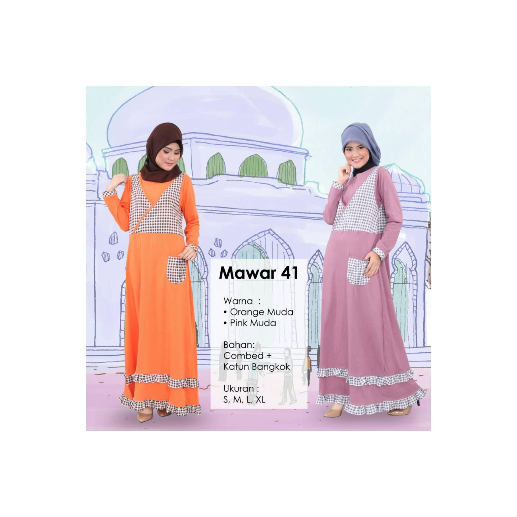 Gamis Qirani Fresh Diskon Mawar-41