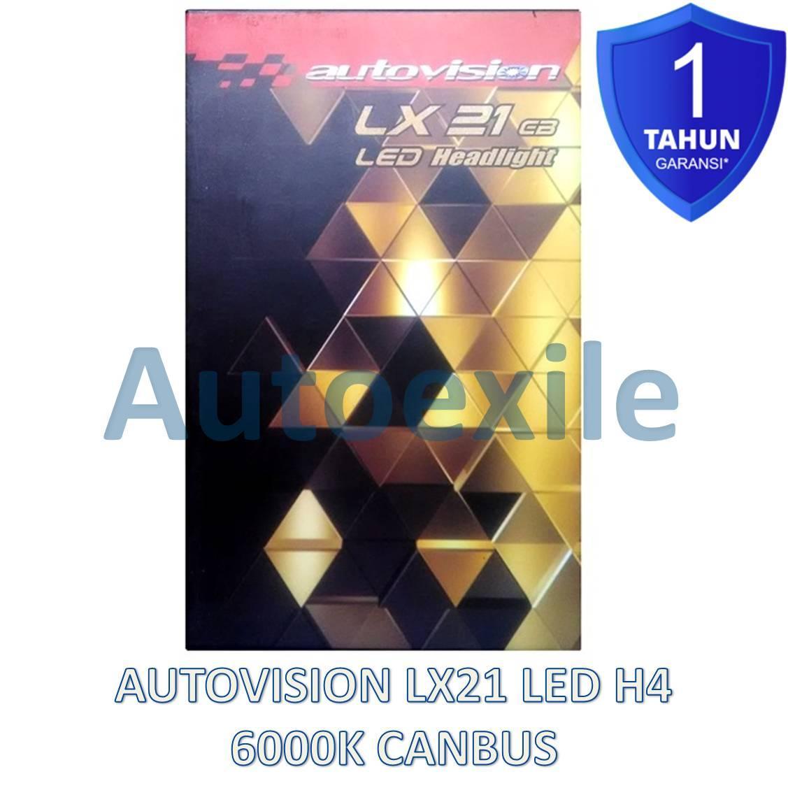 Autovision LX21 CB LED H4 H/L 21W 6000K Putih Luxeon Z ES Canbus LX-21 Lampu Mobil Garansi APV Avanza Agya Ayla CRV Ertiga HRV Innova Jazz SX4 Xenia Xpander