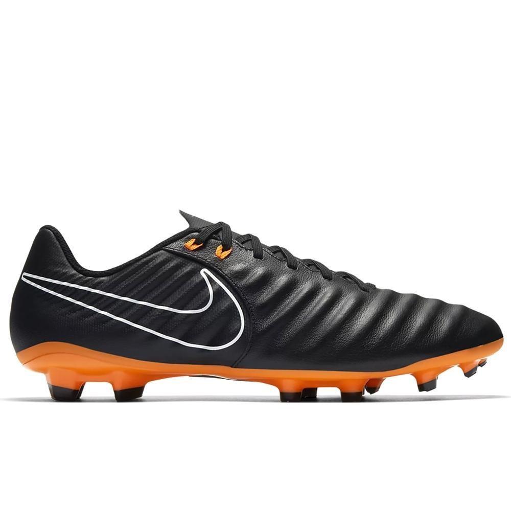 Sepatu Bola Nike Original Legend 7 Academy FG Black Orange AH7242-080