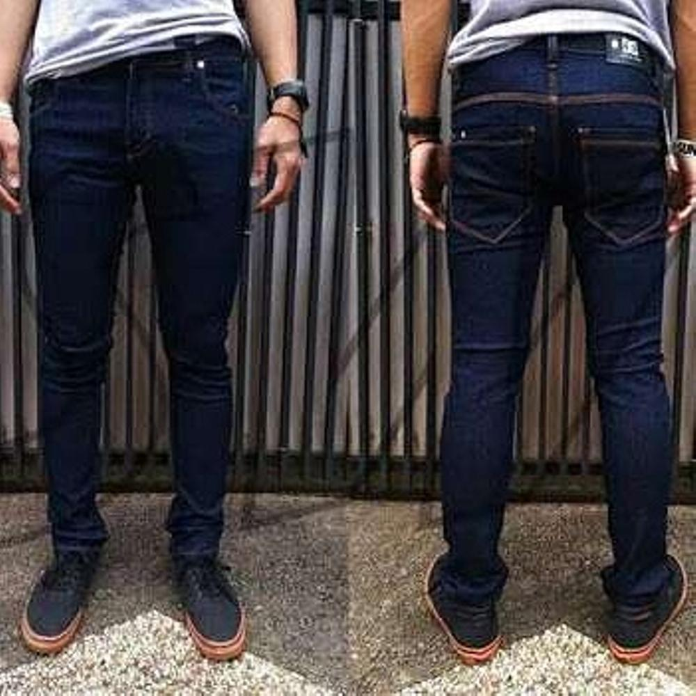 Jeans Skinny Dongker Pria Official Ink