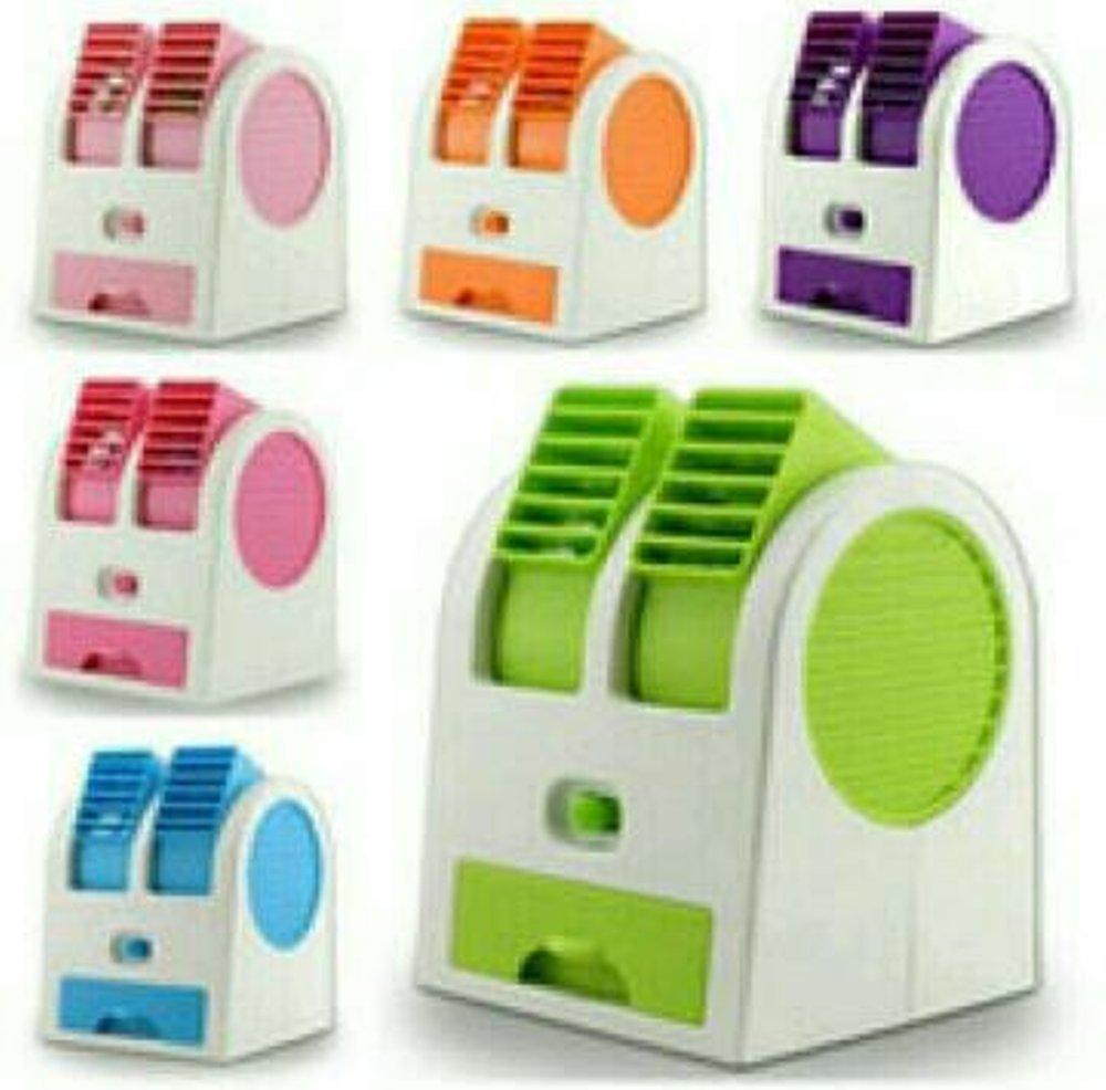Mini Ac Double Fan Portable Blower Kipas Usb