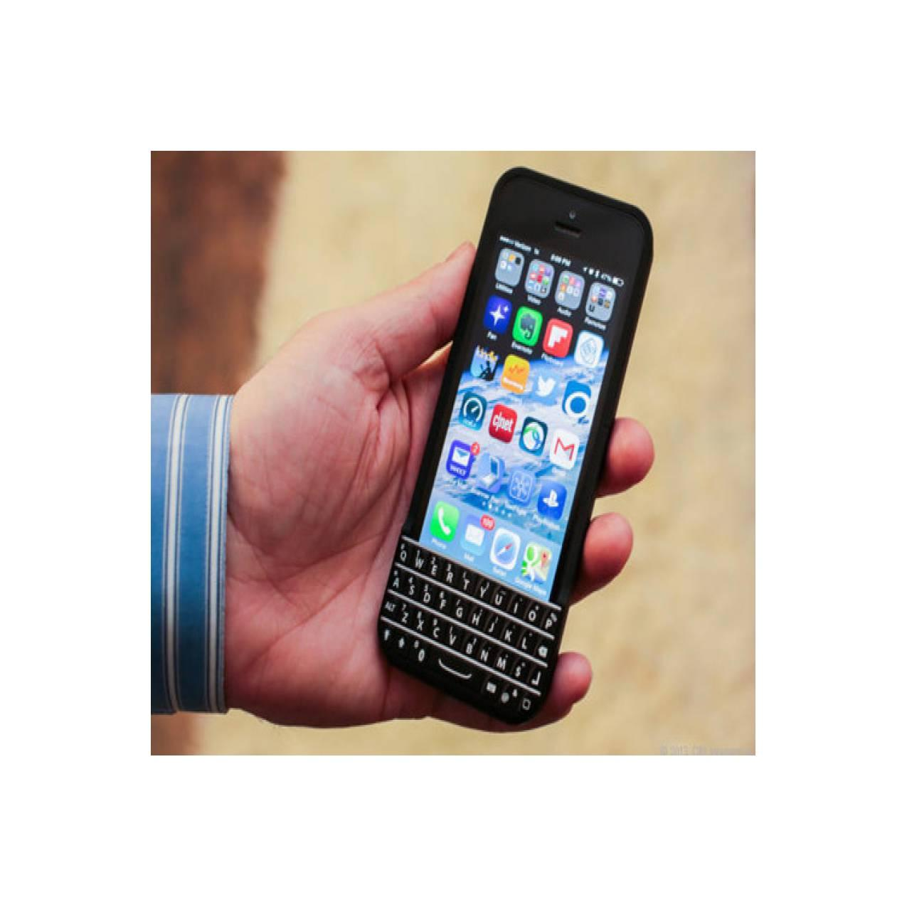 Typo QWERTY Blackberry Keyboard Bluetooth Case Casing iPhone 5 / 5s