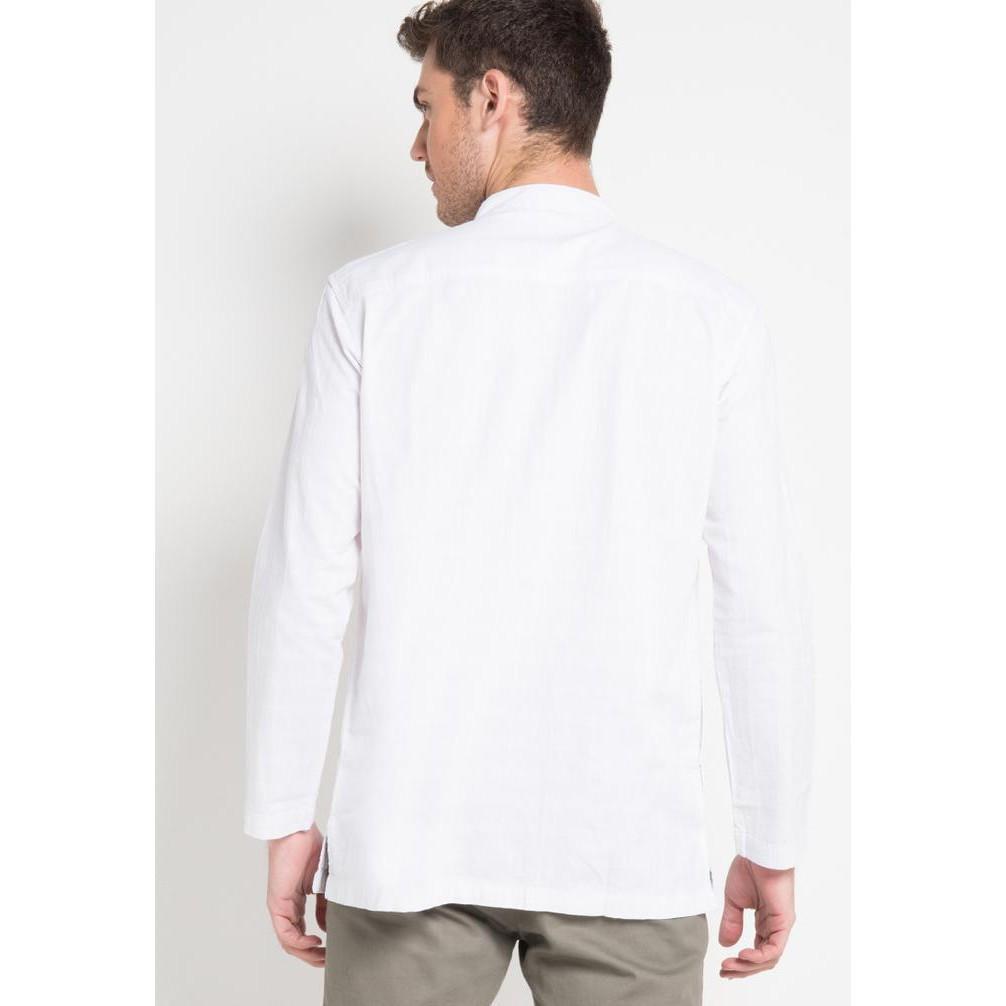 Harga Jual Baju Carvil Terbaru Original Termurah Koko Branded Lengan Panjang Putih Bordir Kuning