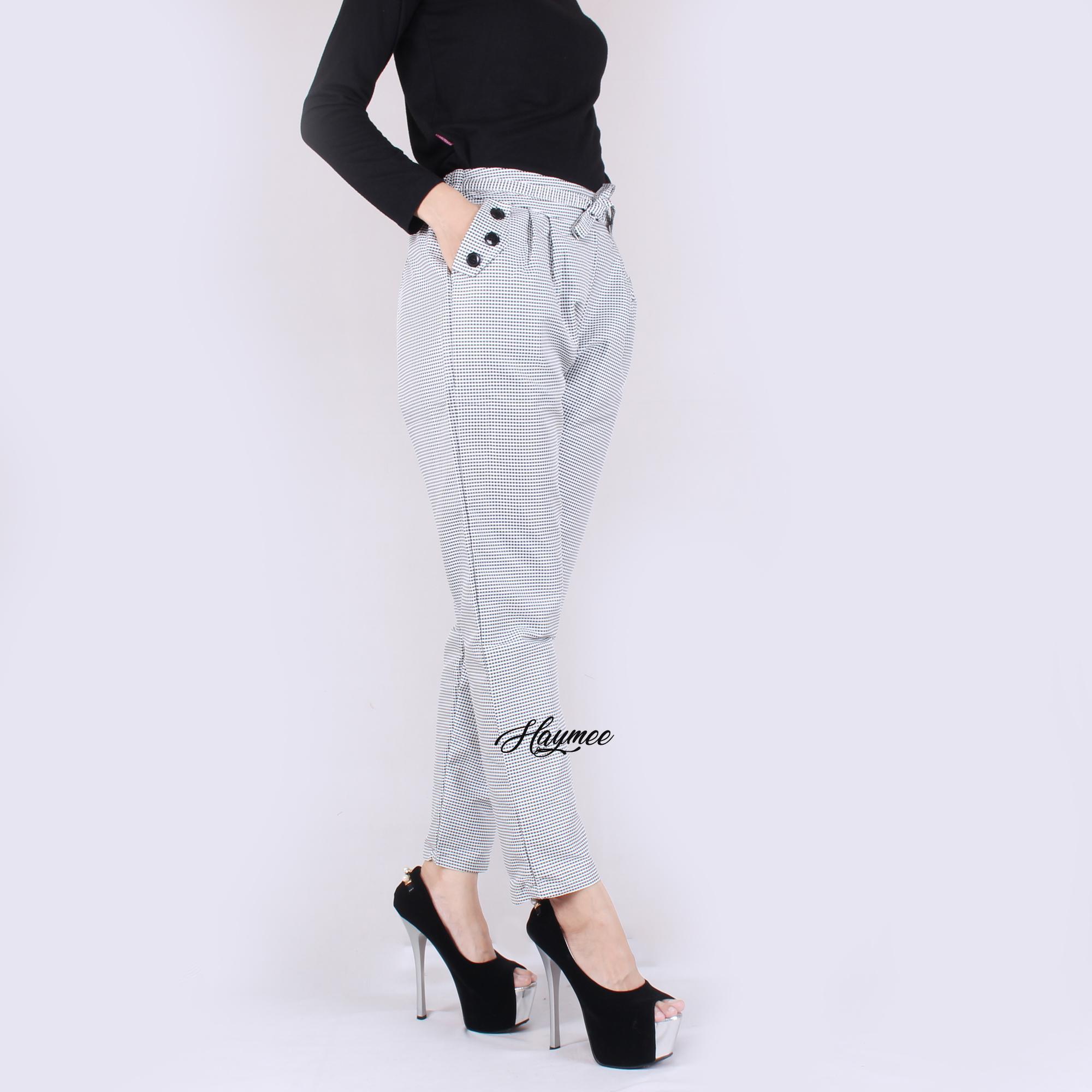 HaymeeStore Celana Dakota Basic Relax and Loose Office Pants Bawahan Formal Kantor Cewek