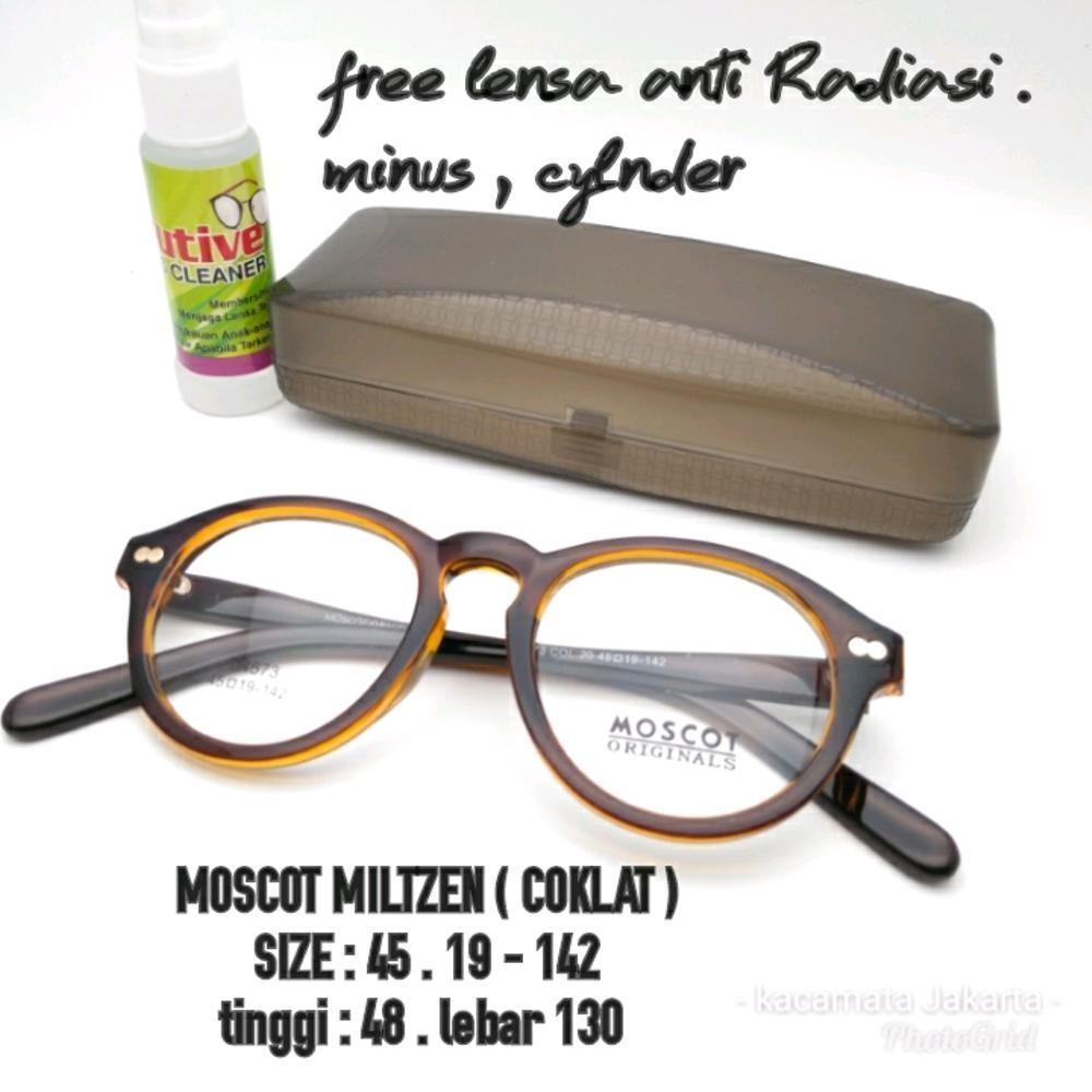 SALE kacamata frame MILTZEN coklat Murah kacamata pria wanita lensa minus anti radiasi  di lapak kacamata_jakarta getjoinshop