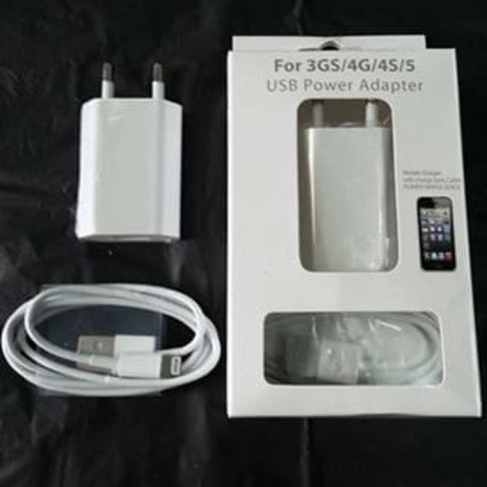 Travel Charger IPhone 5 / IPhone 6 / Ipnone 7- Charger Kabel Lightning - Tc Ipad KW - FC043