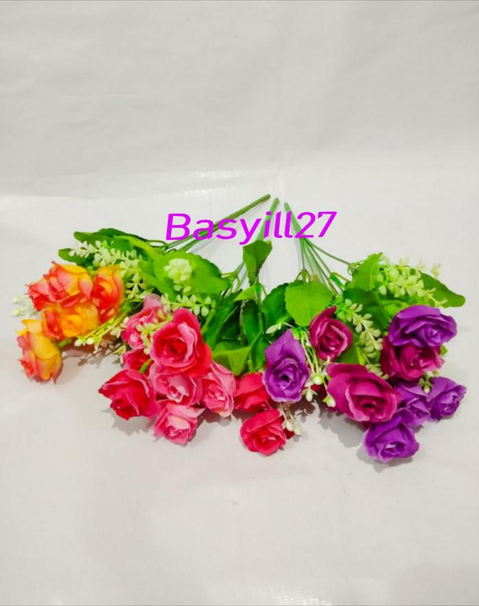 new rose / bunga palsu / tanaman artificial / dekorasi / bunga plastik