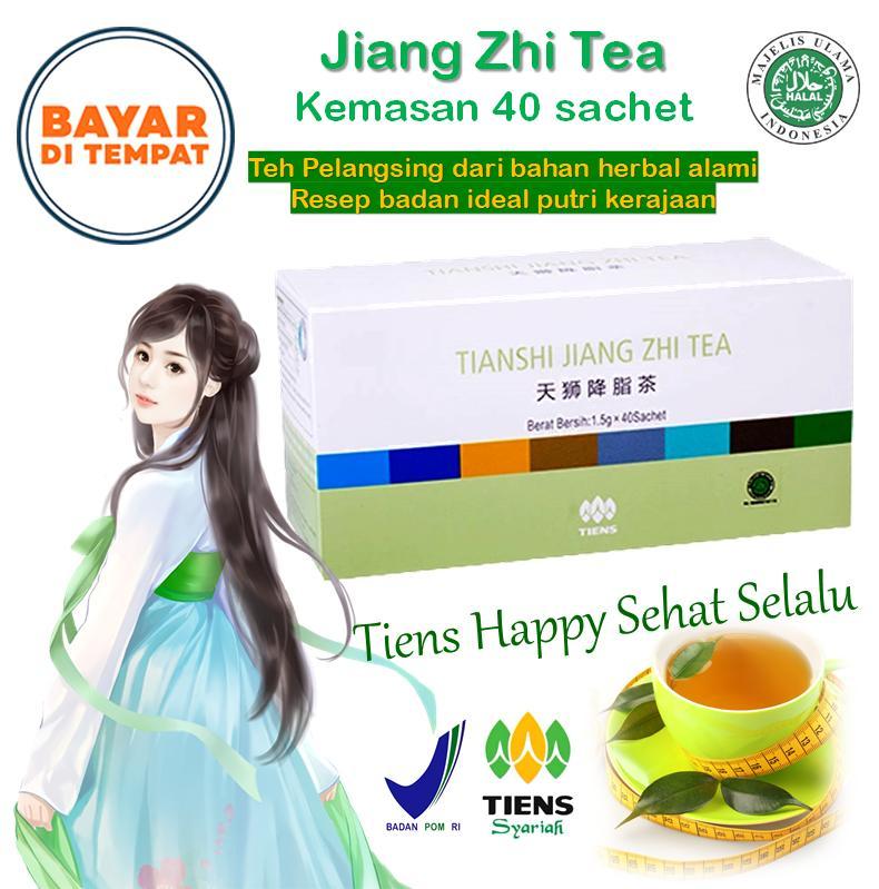 Teh Peluntur Lemak / Teh Hijau (Slimming) / langsing dengan cara mudah, enak, aman dan manjur / Tiens Jiang Zhi Tea - 40sachet