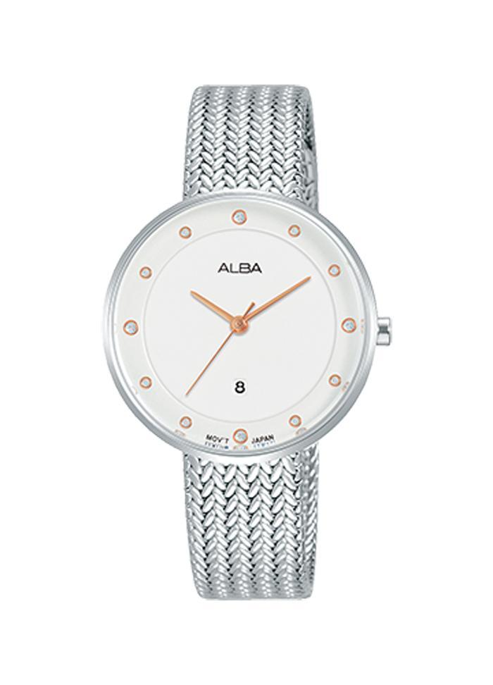 Jam Tangan Alba Fashion AH7Q29 Strap Stainless Steel Silver 797330e00f