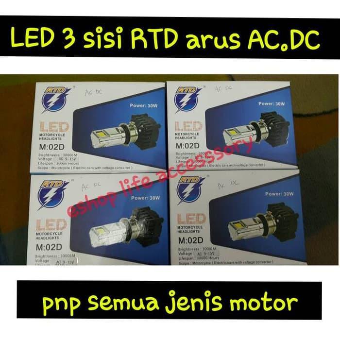 Lampu utama LED 3 sisi mata arus AC DC pnp semua jenis headlamp motor