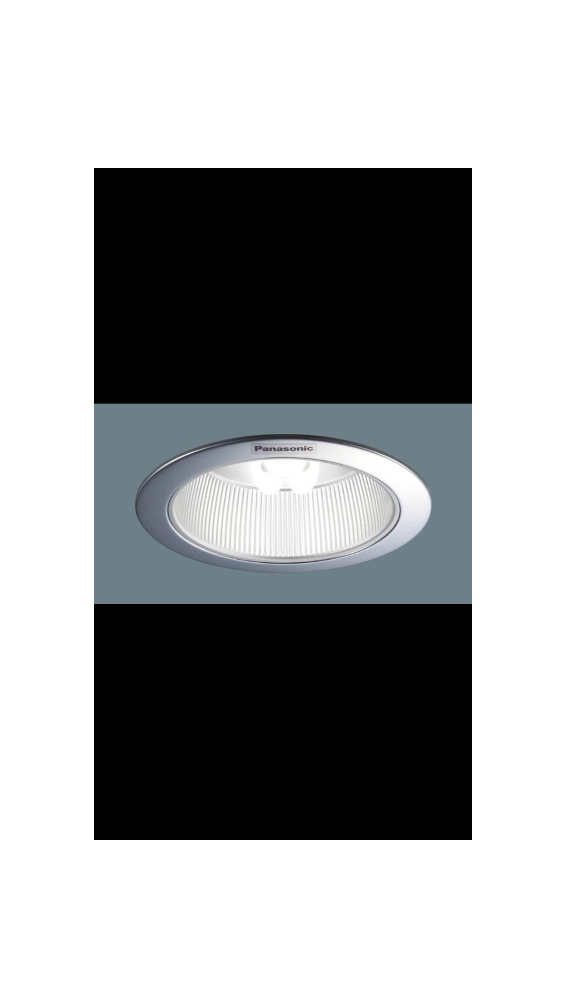 "Downlight panasonic 4in 4"" frame silver reflektor buffle nnp 72333"