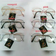 Kacamata Pria & Wanita OVAL FRAME HITAM Lensa bening