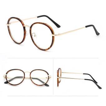 Price Checker Gaya Korea Sastra Retro kaca polos Bingkai Kacamata perempuan pasang  model bingkai kacamata wanita c46841b95d