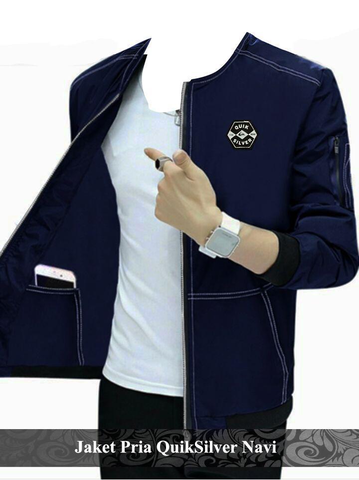 KaosCouple jaket cowok simple fashion pria murah Qkslvr [navi]