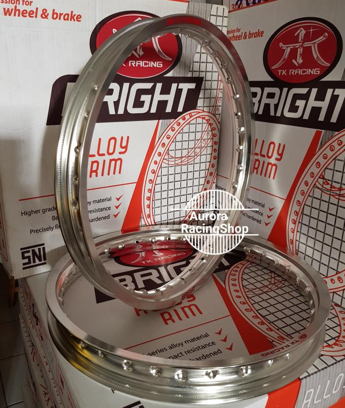 Promo Velg/Rim TK Bright 1 Set ( 140x17 & 160x17 ) Silver Termurah