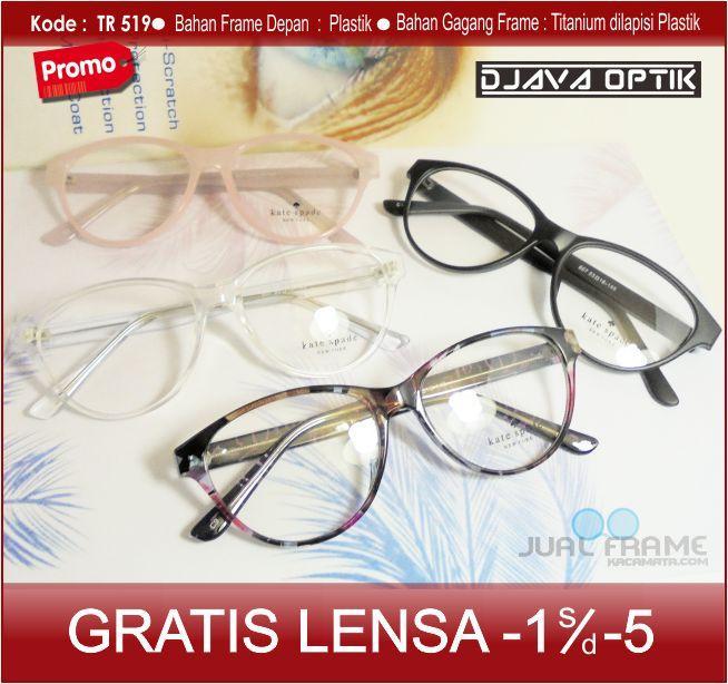 Kacamata Minus Kate spade 607 + Lensa minus/plus/cilinder untuk wanita Model Eyecat