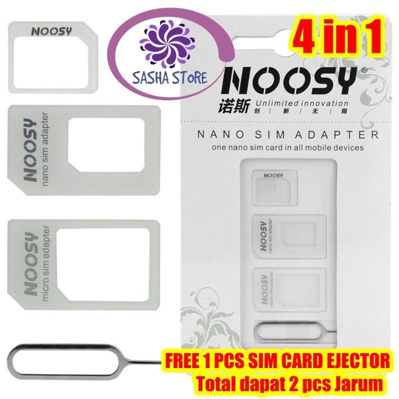 Ss Noosy Simcard Ejector / Sim Ejector / Sim Adapter / Simcard Adapter + Jarum Tusuk Sim Card 4 In 1 / Bonus Sim Card Ejector By Sasha Store.