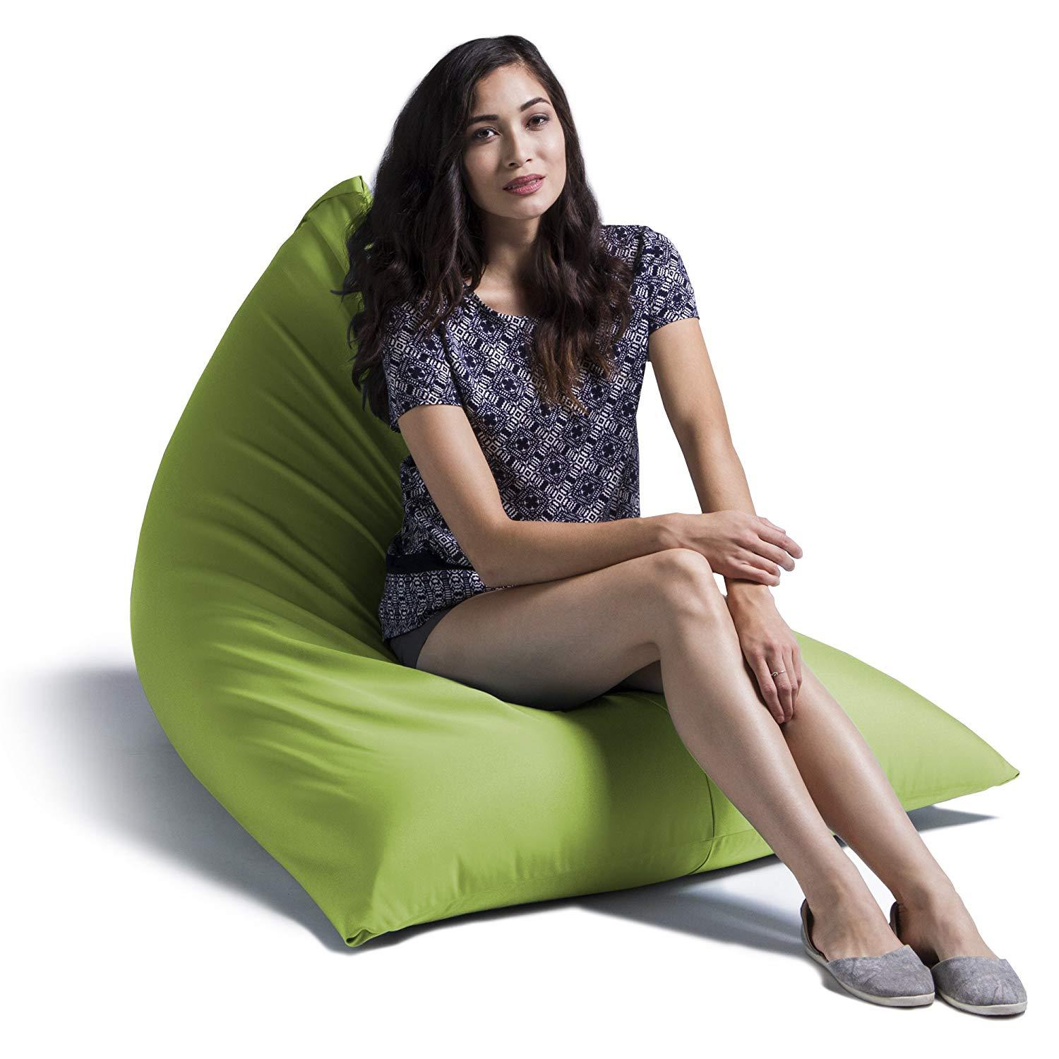 Kursi santai bean bag Triangel Plus isi - Size Dewasa - Paket Hemat Anti air dan