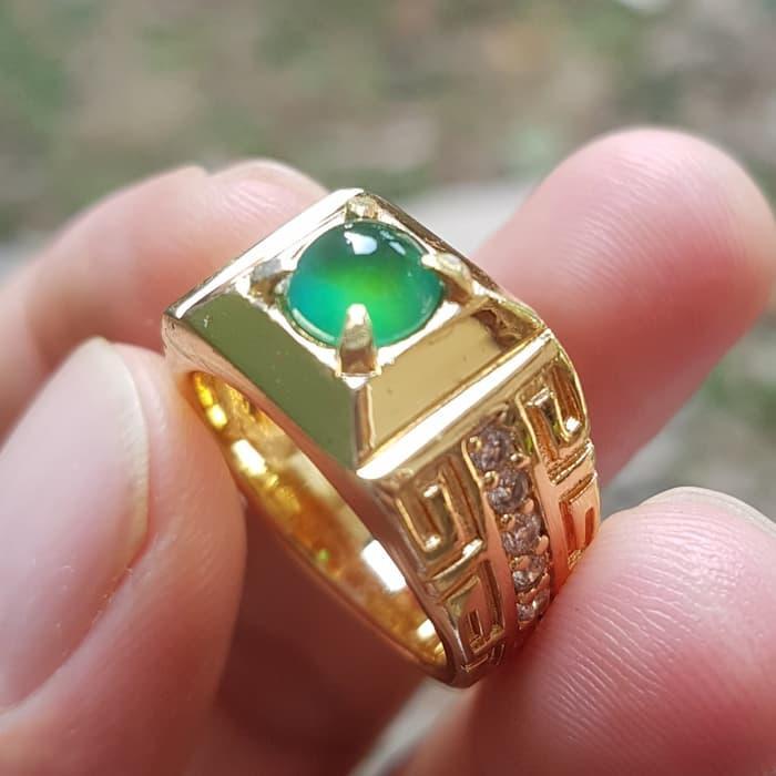 Promo Cincin Batu Mulia Bacan Doko Gulau Top Kristal Giwang Mewah By Natural Gemshop.