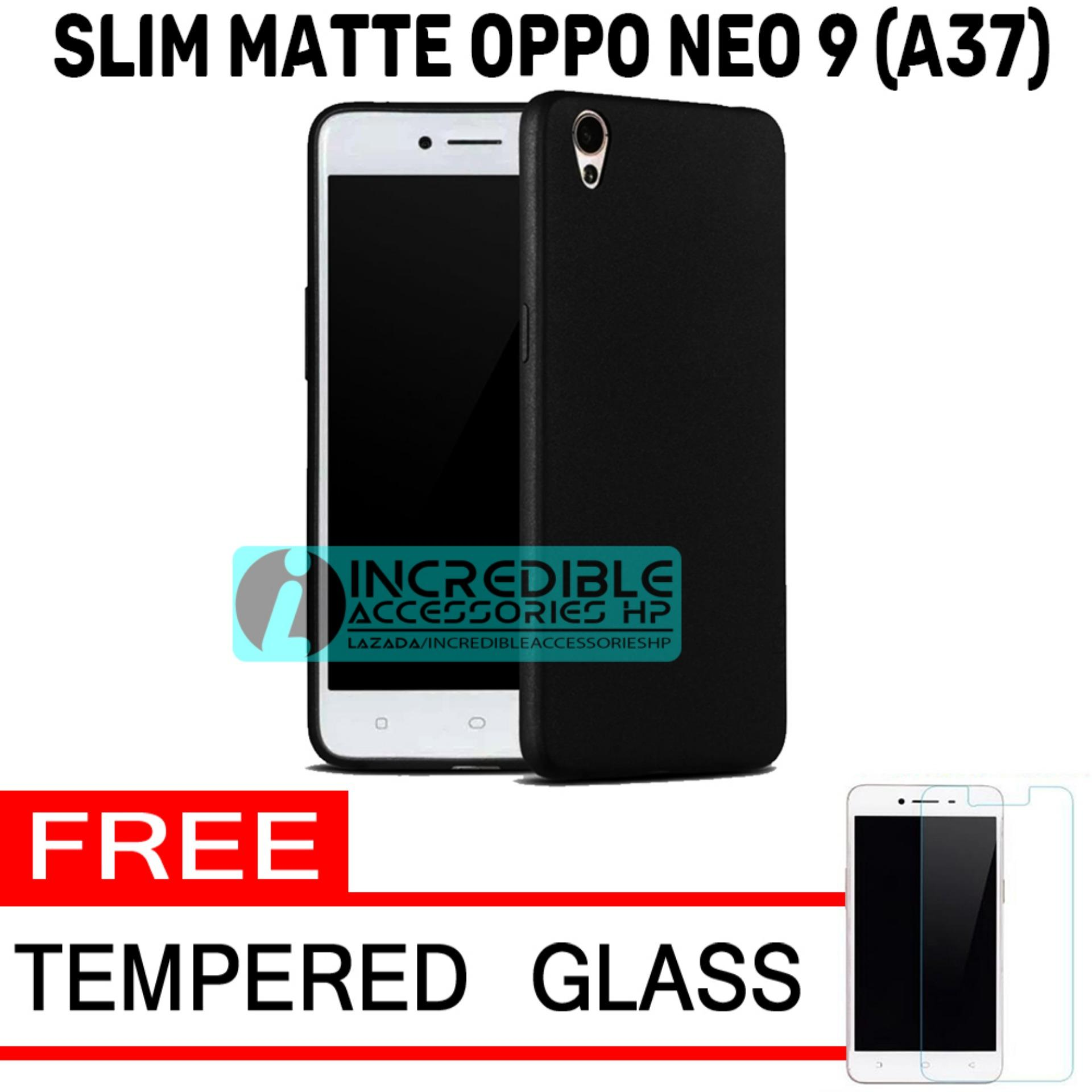 Oppo A37 / Oppo Neo 9 Baby Skin Soft Anti Fingerprint Babby Skin Softase Silicon Slim Matte Ultra Slim - Black + Free Tempered Glass