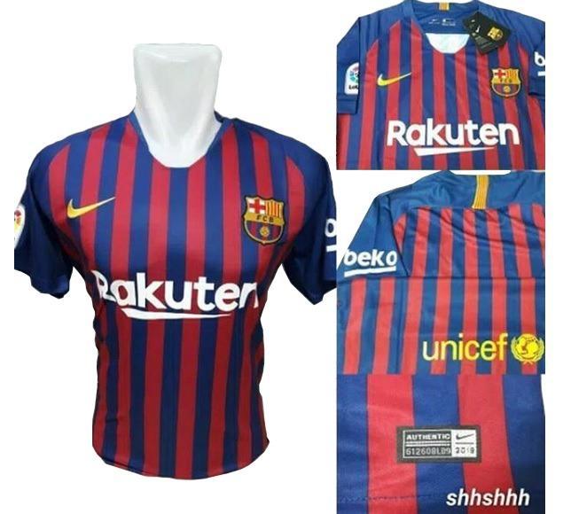 Bo Sport Jersey Olahraga Barcelona Home 18 - 19