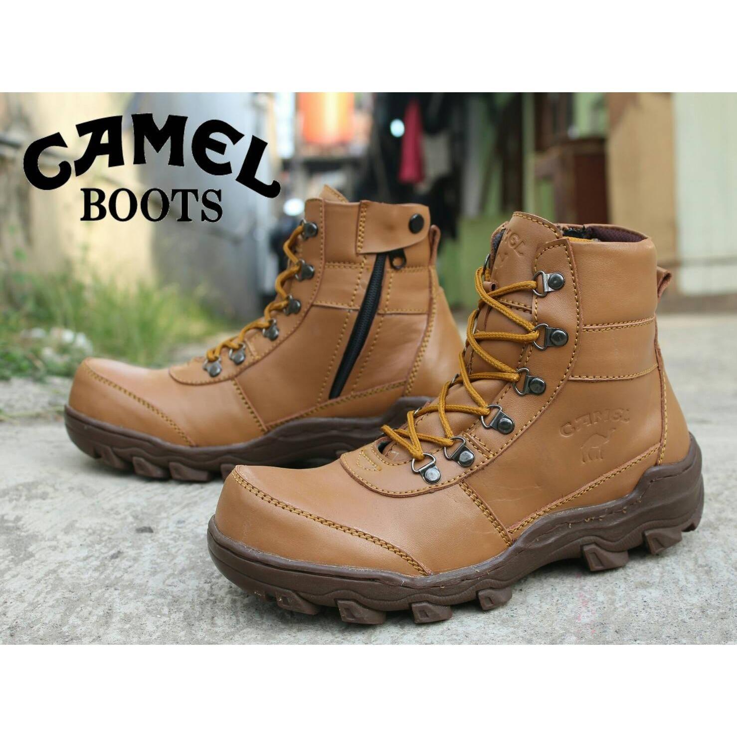 CAMEL - Sepatu Boots Pria Keren Sepatu CAMEL Safety KULIT Sepatu gunung haiking (CAMEL LOKAL)