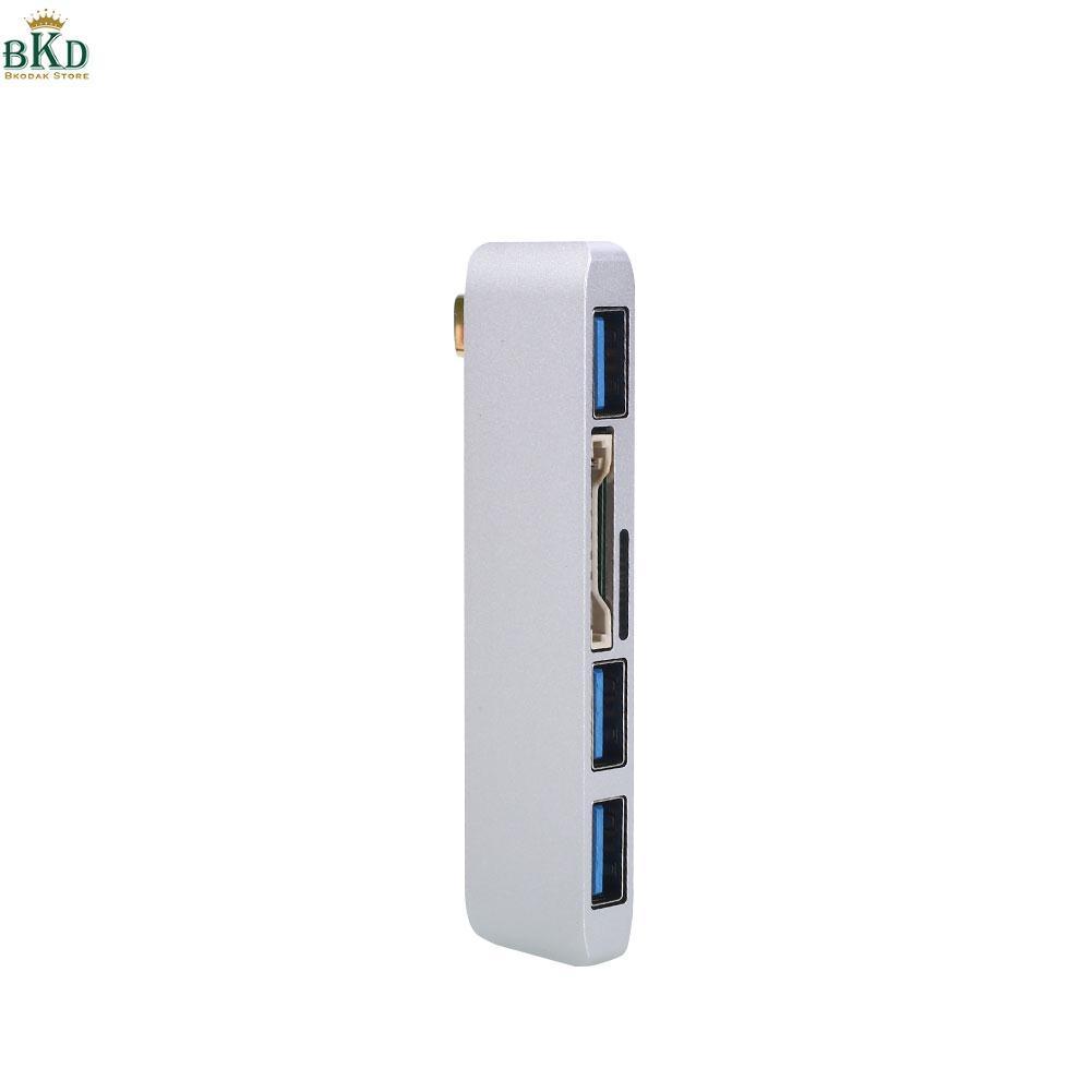 Buy Sell Cheapest Hub Usb Konverter Best Quality Product Deals 3 Port Rotasi 180 Derajat Hi Speed Bkodak Toko Macbook Kecepatan Tinggi Perak Type C Untuk 30 Usb30