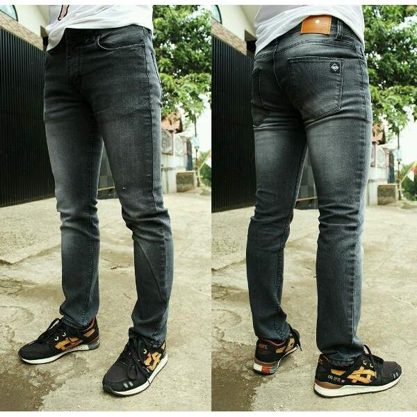 R.S.T.R. celana jeans skiny pria - celana model pensil - Cealana jeans Jumbo - Biru dongker - Hitam - Biru muda - Biru tua - Abu-Abu