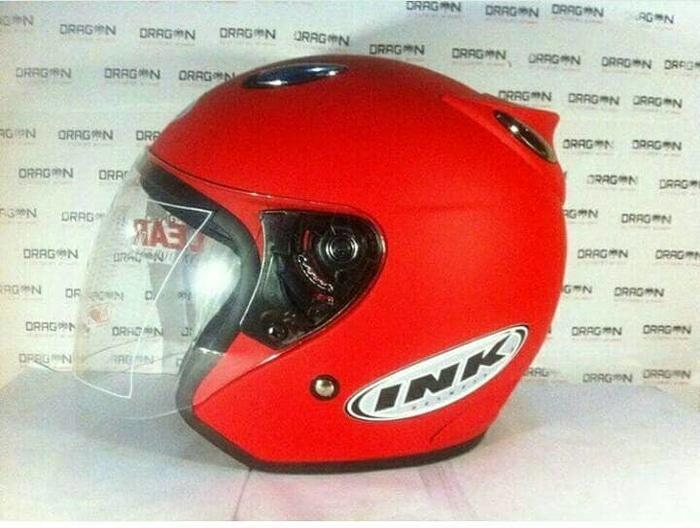 Helm basic ink Centro warna Merah Doff / Fire Red Doff