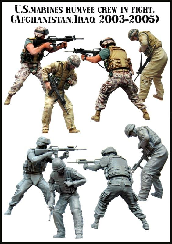 Diskon 10%!! Em-35061 - U.S. Marines Humvee Crew In Fight (Afghanistan, Iraq) - ready stock