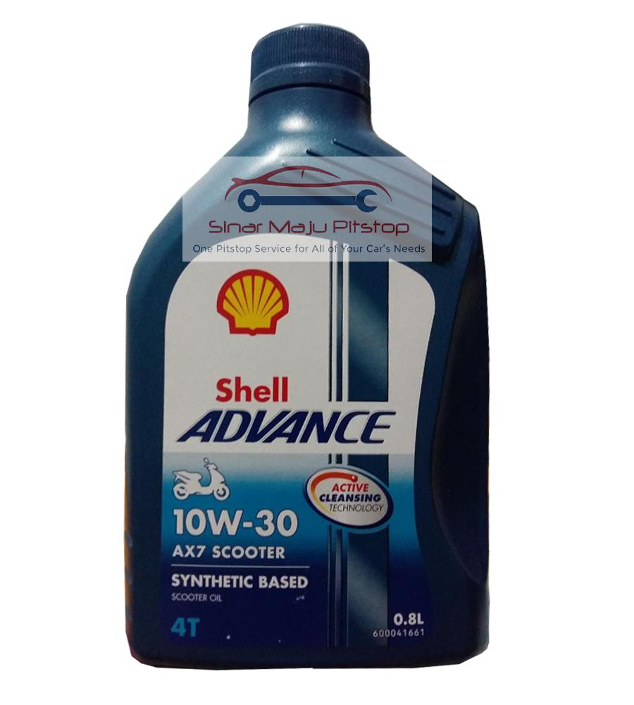 Shell Advance AX7 SCOOTER 10W-30 Synthetic 4T Oli Motor Matic 0.8 LITER SUZUKI SKYDRIVE Original