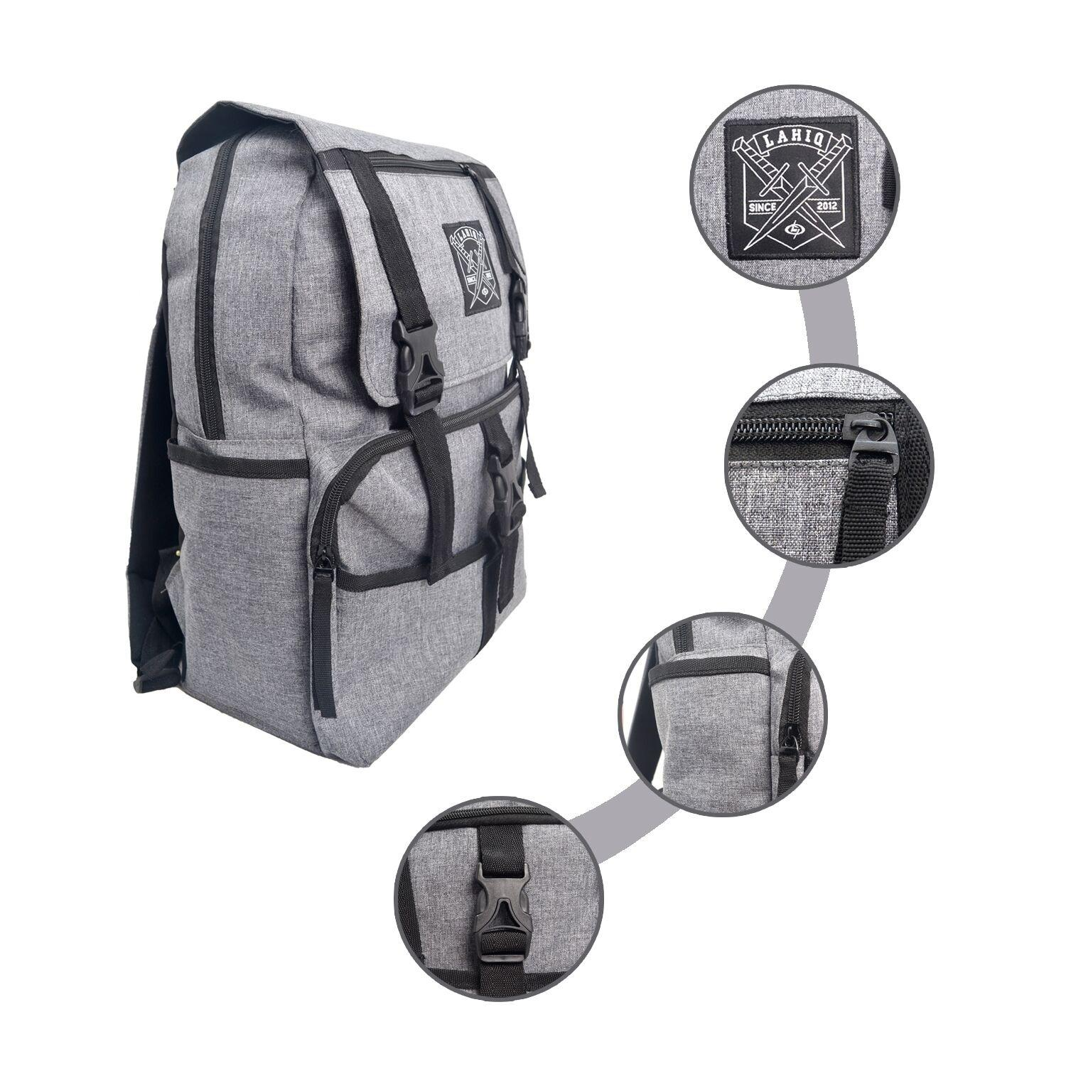 Tas ransel model baru17 Inchi Style Korea 901-17 Material Kanvas - Grey