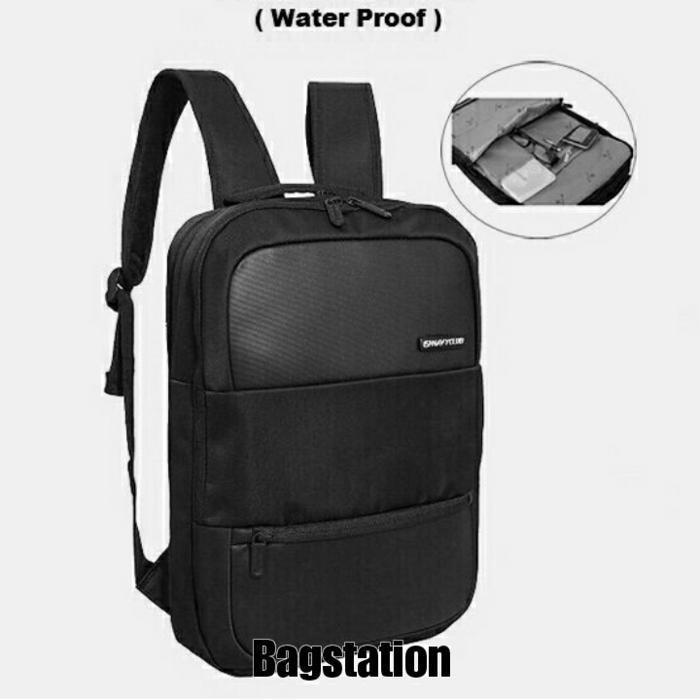 ASLI!!! Tas Ransel Laptop Pria Wanita Backpack Bodypack Navy Club Original - Hitam