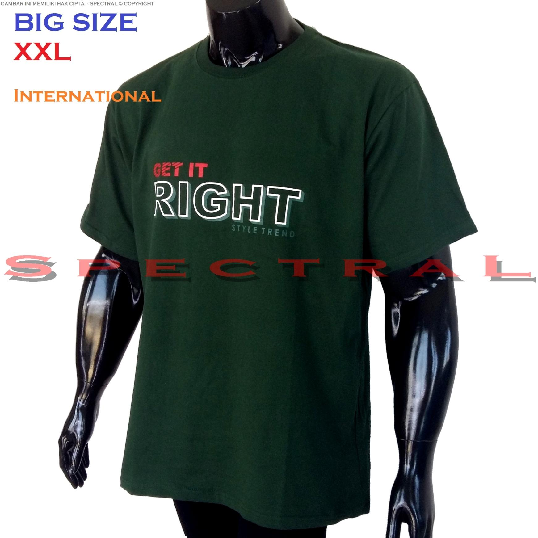Spectral – BIG SIZE XXL INTERNATIONAL 100% Soft Cotton Combed Kaos Distro Jumbo BIGSIZE T-Shirt Fashion Ukuran Besar Polos Celana Atasan Pria Wanita Katun Bapak Orang Tua Gemuk Gendut Lengan Simple Sport Casual 2L 2XL Baju Cowo Cewe Pakaian Terbaru