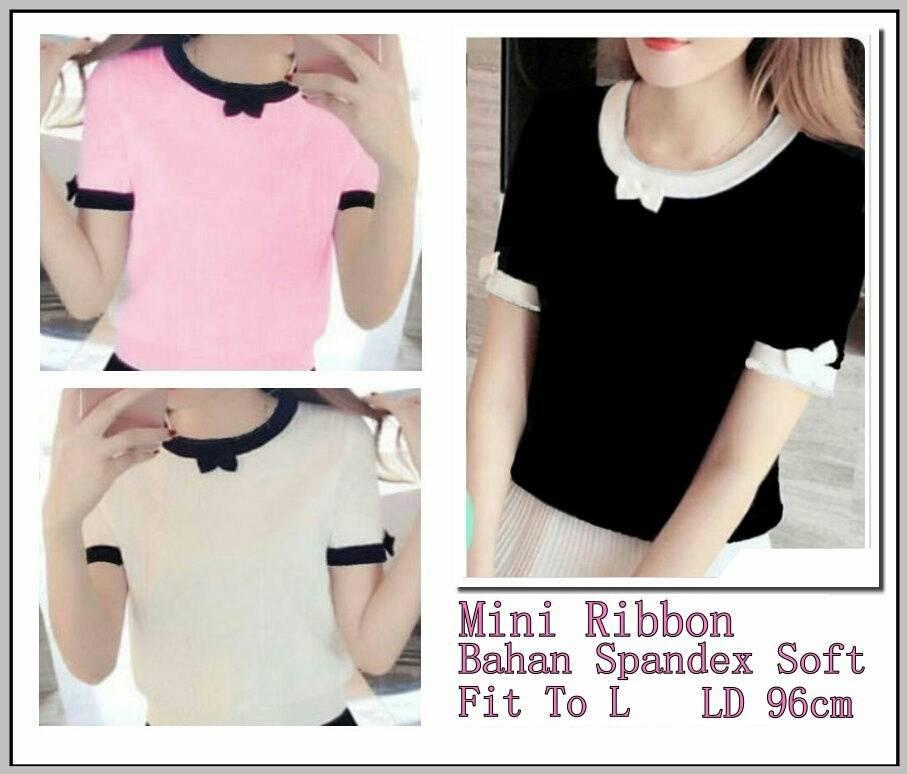 AG Apparel Blouse Mini Ribbon Varian Warna / Blouse Wanita / Atasan Wanita / Fashion Wanita