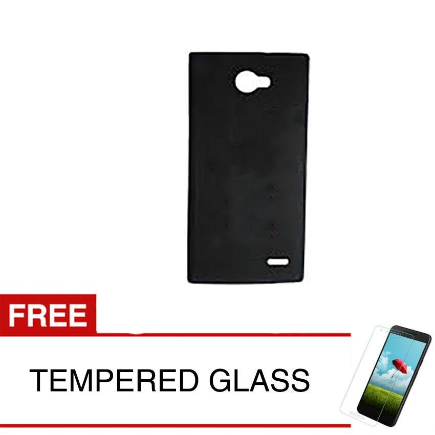 Case for Infinix Note 2 / X600 - Slim Soft Case - Hitam Solid + Gratis Tempered Glass