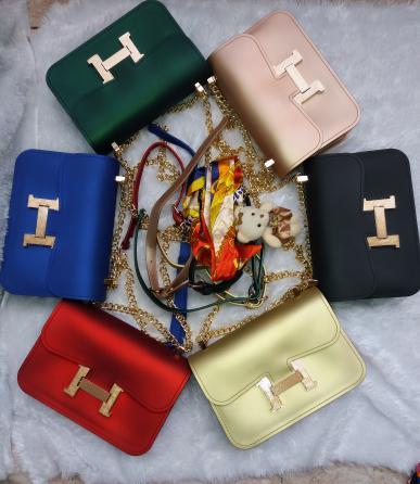 Tas  wanita Jelly Matte mate Hermes selempang handbag import