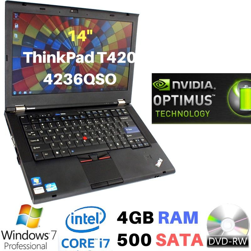 Lenovo ThinkPad T420 4236 QSO - i7-2640M - 4GB - 500GB - DVD - 14