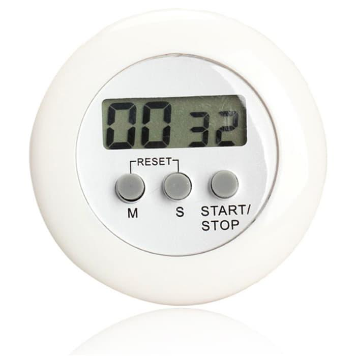 HARGA SPESIAL!!! Timer Masak Dapur 5 Color Digital Alarm Minimalis Time Machine - White - TIDDCn