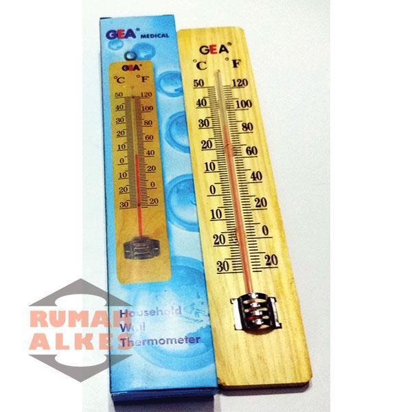 Thermometer Dinding Kayu Merk GEA RUMAH ALKES