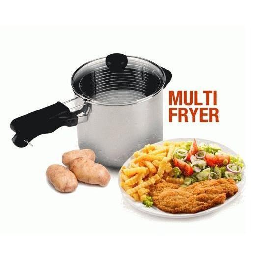 Multi Deep Fryer 18 - Goreng Kentang- Ayam- Tempura- Wajan Serbaguna - L5yvwv