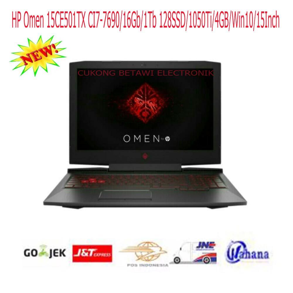 HP Omen 15CE501TX CI7-7690-16Gb-1Tb 128SSD-1050Ti-4GB-