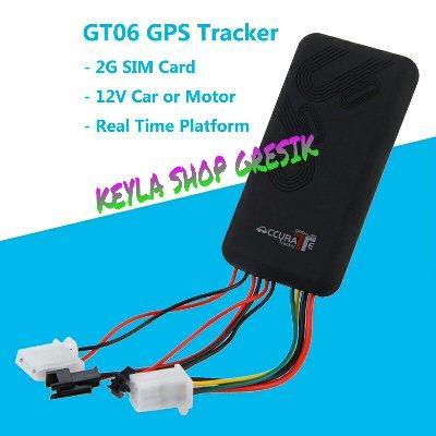 Promo smart GPS Tracker GT-06 tracking GSM GPRS SMS vehicle Tracker remote control alarm Alat pe lacak kendaraan untuk mobil motor real time KEYLA SHOP GRESIK