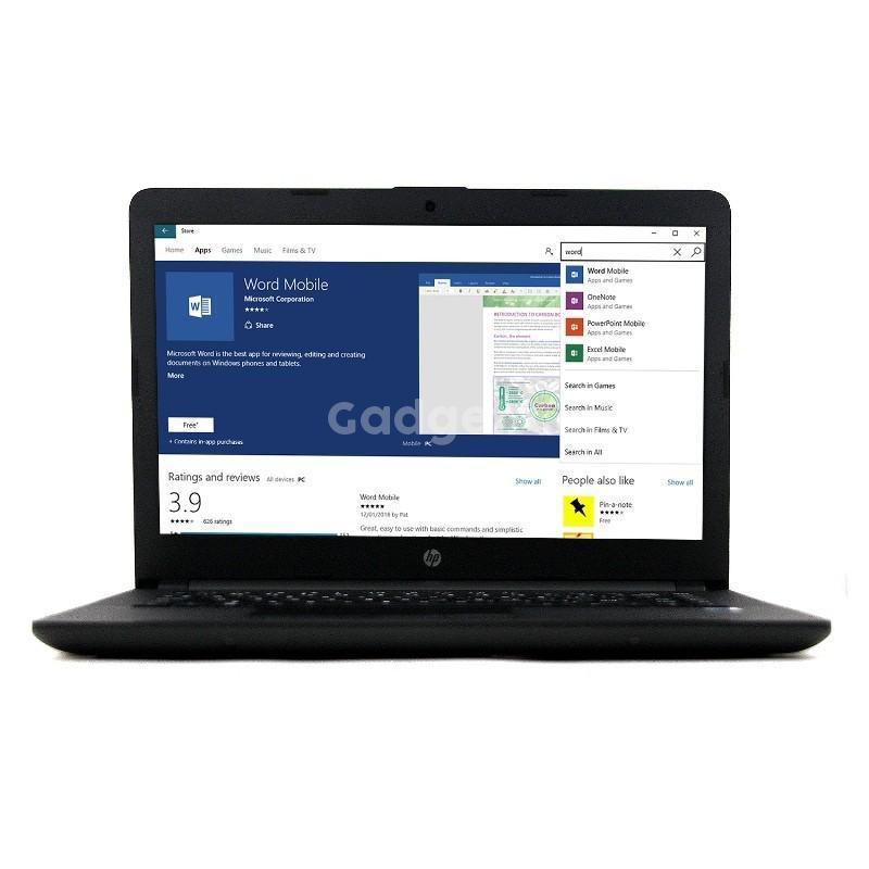 Laptop HP Notebook 14-BS Core i3/RAM 4GB/500GB/WIN 10/RESMI/HITAM