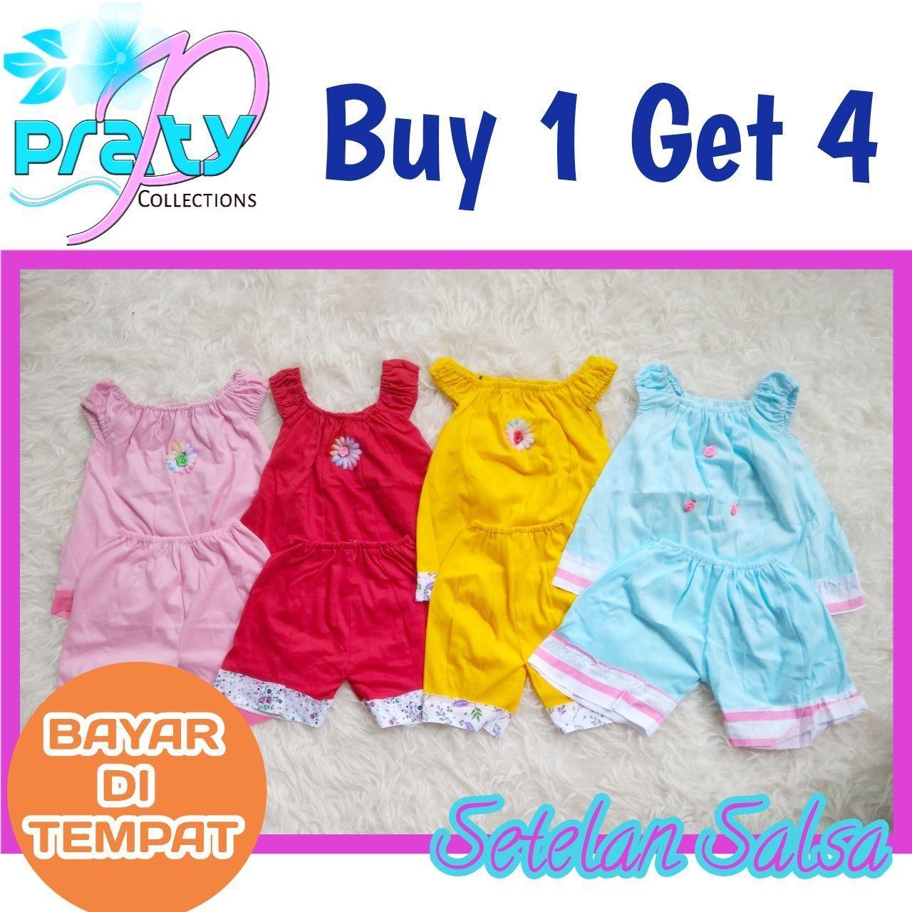 Pakaian Bayi Perempuan Terbaru Baju Jumper Kodok 2 Pcs Karakter Baby Zebra Buy 1 Get 4 Setelan Anak Cewek Celana