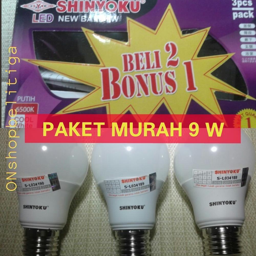 LAMPU LED SHINYOKU 9 W PAKET MURAH