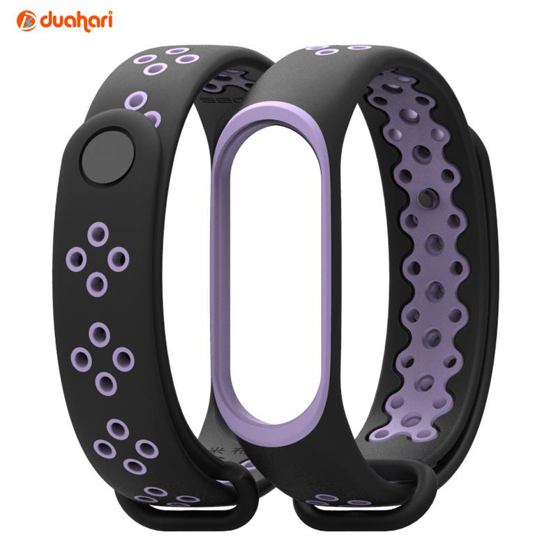 MiBand 3 MIJOBS SPORT Silicone Strap Replacement Case gelang mi band 3 - Double Colour